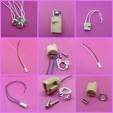 MR16 GU10 G4 G9 Base Ceramic Lamp Holders LED Bulb Socket Leads & Metal Bracket