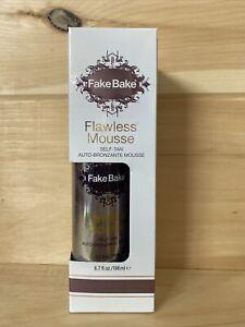 Fake Bake Flawless Self Tan MOUSSE & Professional Mitt Auto Bronzante 6.7 oz
