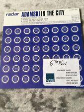 Adamski In The City CD Radar 2000 Free Post Never Played Radio Promo Copy