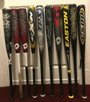 Demarini, Easton, Rawlings, Louisville Slugger 32/29 BBCOR & BESR Baseball Bats