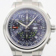 Ball Train Master Pulse Meter Chronograph CM1010D SS Automatic Men's Watch F/S
