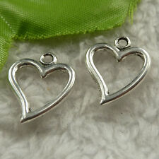 free ship 180 pcs tibet silver heart charms 19x15mm #4284