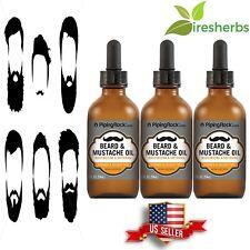 BEARD & MUSTACHE OIL GROWTH FAST FACIAL HAIR GROW SOFTENING MOISTURIZING 6 FL OZ