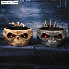 Halloween Electric Bowl Prank Props Skull Hand Catching Trick Treat Candy Holder
