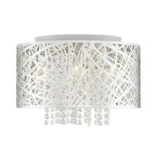 Home Decorators 15.75 in. 7-Light Stainless Steel Flush Mount w/Crystal Drops