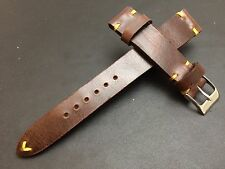 Handmade Vintage Brown Leather Watch strap, watch band for Luxury watch 19mm