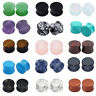 ALL 15 PAIRS- Stone Plugs Organic Double Flared Ear Gauges Body Jewelry Lots