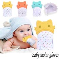 Baby Silicone Mitts Teething Mitten Glove Candy Wrapper Cat Teether Toy Gifts