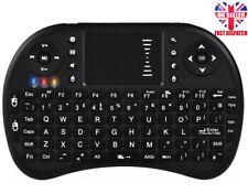 Mini Teclado Inalámbrico Retroiluminado 2.4G Touchpad Ratón Combo británico Negro Recarga