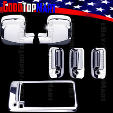 For Chevy EXPRESS+GMC SAVANA 2003-2018 Chrome Covers Set Mirrors+Doors+Tailgate