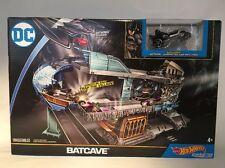 Mattel Hot Wheels BRAND NEW DC BATCAVE PLAYSET Batman with BATWING & CAR!