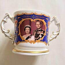 Queen Elizabeth & Prince Philip Golden Wedding Loving Cup by Aynsley