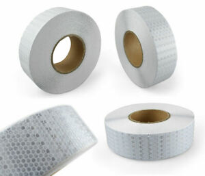 25m White Reflective Tape Sticker Decal Vinyl ECE104 for Truck Lorry Trailer HGV