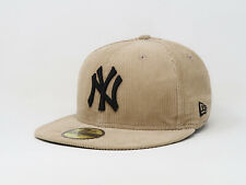 New Era 59Fifty Cap MLB New York Yankees Melville Camel Corduroy Mens Fitted Hat