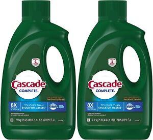 Cascade Complete Dishwasher Detergent Liquid Gel Citrus Breeze Scent 75 oz 2 PK