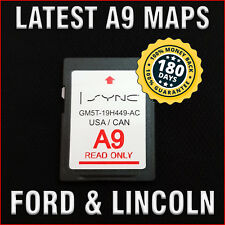 A9 2019 / 2018 FORD & LINCOLN GPS Navigation SD CARD MAP UPDATE SYNC UPDATES A8