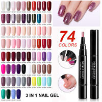 NICOLE DIARY One Step 3 in 1 Nail Art UV Gel Brush Pen No Need Base Top Polish