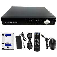 16CH Security Recorder 3TB Hard Drive TVI CVI AHD CCTV IP Camera Hybrid DVR NVR
