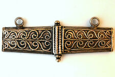 Antique .900 Silver Middle Eastern Hand Made Filigree Pendant