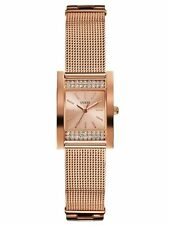 New Authentic GUESS Women  Rose Gold Logo Bracelet Watch U0127L3 New With Tag
