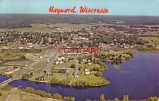 1965 AREIAL VIEW OF HAYWARD, WISCONSIN Musky Capital of the World