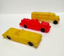 Vintage Plastic 1950s Wannatoy Car Lot Of 3