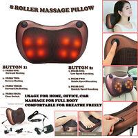 Electric Shiatsu Cervical Massager Pillow Heat Back Neck Lumbar Home Car Cushion