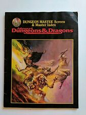 Dungeon Master Screen & Master Index Advanced D&D 9504 INDEX ONLY