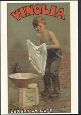 Advertising Postcard - Vinolia Soap - Cosmetics - Boy Washing - Luxury  K553