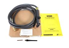 ESAB Heliarc TIG Welding Torch w/Rotary Valve HW-26V 75 Degree 12.5' Gas Cooled