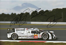 Mark Webber, Hartley, Bernhard Hand Signed Porsche 919 Hybrid Photo 12x8 3.