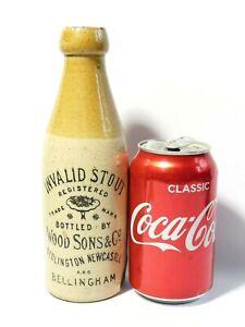 19thC Wood Sons & Co. Newcastle Bedlington Invalid Stout Stoneware Bottle a/f