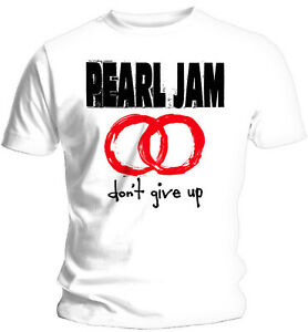 PEARL JAM Don't Give Up WHITE T-SHIRT OFFICIAL MERCHANDISE