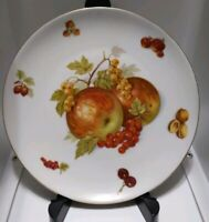"Seltmann Weiden Bavaria salad plate, ""Apples and grapes"" pattern, Gold rim"