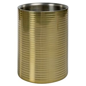 cylindrical stainless steel double walled insulated wine champagne cool bucket