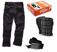 Scruffs Trouser box set 38W regular Trousers knee pads & clip belt T53523