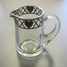 Kleine Kanne aus Glas mit Silver Overlay - 105