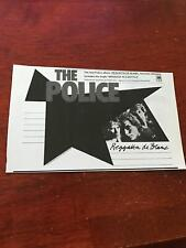 "1979 Vintage 5X8.25"" Album Promo Print Ad For The Police Reggatta de Blanc Sting"