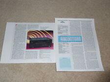 Pioneer Elite A-91D Amplifier Review, 2 pgs, 1988, Spec