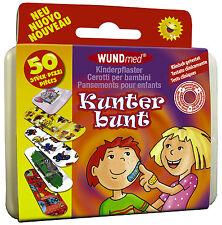 50 Kinderpflaster Klinikpackung Pflaster bunt Kinder Wundpflaster Wundmed BOX