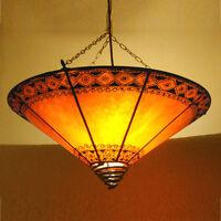 Marocaine Lampe Henné Oriental Lampe Plafonnier Véritable Lampe en Cuir Rossor