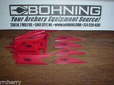 "36 Red Bohning 2"" Blazer Vanes Pack! archery arrow fletching"
