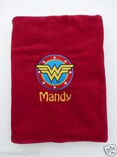 Embroidered Wonder Woman DC Comics Personalized Beach Towel