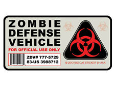 Zombie Defense Vehicle  (Bumper Sticker/Decal)