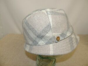 Stunning BURBERRY Wool Hat - Soft Greys- Size L - Good Condition -Thames Hospice