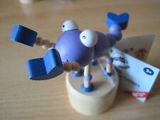 Wackeltiere Drückfiguren Drücktiere Kriechtiere blau  Holz 9cm Ausführung 3