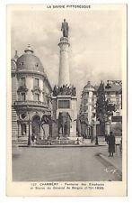 chambéry  ,fontaine des éléphants et statue du général de boigne