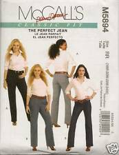M5894 WOMENS PLUS SIZE JEANS SIZE 18+24 SEWING  PATTERN MCCALLS 5894