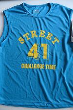 ACTIVE Top L,Funktionstop Sportshirt 52 54, Mesh blau m gelb,STREET 41,Reflektor