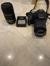 Canon EOS Rebel T1i / EOS 500D Digital SLR + 18-55mm IS & 100-300mm Lenses +Xtra